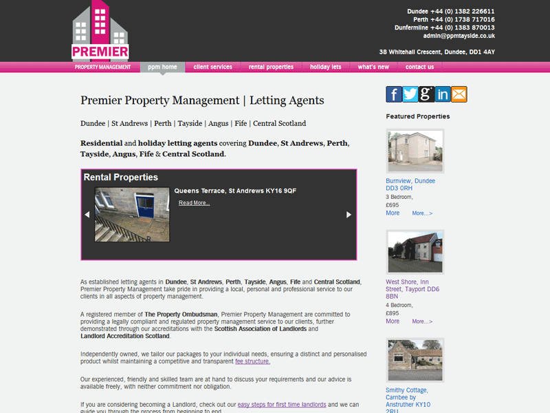 Letting Agent's Website