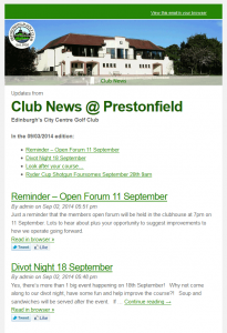 Prestonfield newsletter